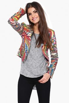 Ace Floral Blazer in Multi   Necessary Clothing