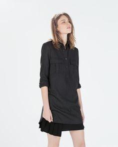 スリット入りポケットチュニックシャツ - ドレス ワンピース - レディース | ZARA 日本
