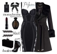 Fade To Black by jadelovespintrest on Polyvore featuring polyvore fashion style Agent Provocateur Miss Selfridge Alaïa Steve Madden Chanel Kat Von D clothing