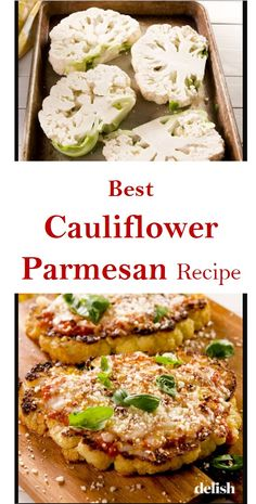 Best Cauliflower Parmesan Recipe - Best Picture For best recipes For Your Taste You are looking for something, and it is going to te - Cauliflower Recipes, Vegetable Recipes, Vegetarian Recipes, Healthy Recipes, Parmesan Cauliflower, Cauliflower Steaks, Cookbook Recipes, Cooking Recipes, Dinner Sandwiches