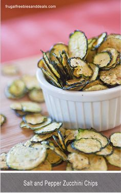 Salt and Pepper Zucchini chips-Aren't we always looking for new recipes to use up all the zucchini that seemt o show up at the end of the season in our gardens?