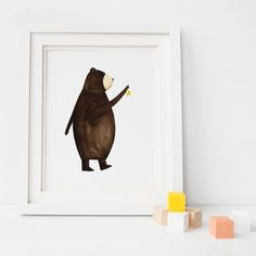Wish Upon A Bear Nursery Art Illustration
