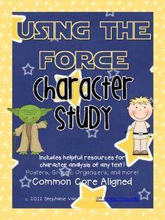 """Using the Force"" Star Wars Themed Character Study - 3rdGrThoughts - TeachersPayTeachers.com"