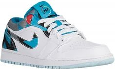 newest 51c4d e2f3f Air Jordan 1 Retro Low N7 White Dark Turquoise-Black-Ice Cube Blue