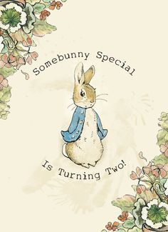 Peter Rabbit - Printable Birthday Party Invitations (Digital File). $15.00, via Etsy.