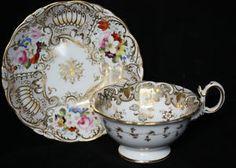 Beautiful china - Coalport Teacup and Saucer 1800-1810