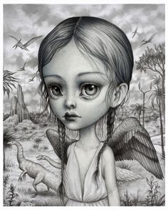 Sariel - Limited Edition signed numbered 8x10 Children of the Nephilim Fine Art Print by Mab Graves -unframed