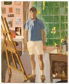 Fairfield Porter (American, 1907-1975), Self Portrait in the Studio, 1968. Oil on Masonite, 22 x 18 in.