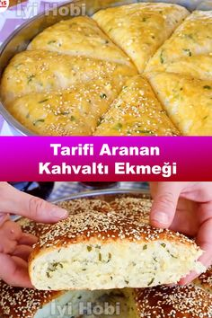 Pasta Recipes, Cooking Recipes, Turkish Breakfast, Snacks Für Party, Pizza Dough, Good Food, Rolls, Food And Drink, Ethnic Recipes