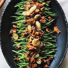 Green Beans with Chanterelles and Cipollini Recipe | MyRecipes.com