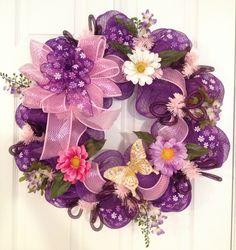 Purple passion decomesh wreath II