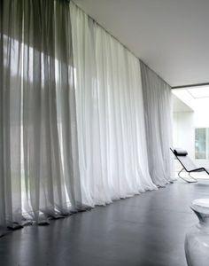 gardinen dekorationsvorschläge durchsichtig überlang