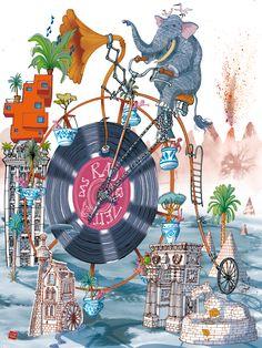 Illustration for the Freude Magazin - Austria Color Bug, Sketchbook Inspiration, Moleskine, Book Illustration, Austria, Illustrator, Posters, School, Drawings