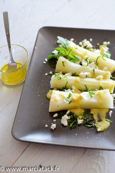 Poireaux vinaigrette, menthe et féta - Recette - Marciatack.fr : recettes faciles | Tout pour cuisiner !