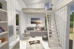 innredning anneks - Google-søk Tiny House, Compact, Loft, Camping, The Originals, Bed, Furniture, Home Decor, Campsite