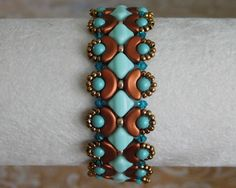 Beaded Bracelet Tutorial, Bead Pattern, Arcos Beads, Silky Beads, Swarovski…