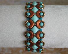 Beaded Bracelet Tutorial, Bead Pattern, Arcos Beads, Silky Beads, Swarovski…