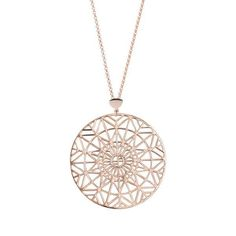 Inspired by the unique architecture of New York, the Empire Pendant's intricate geometric design makes it a striking statement piece. With the Francesca insignia embedded within the centre, this art-deco inspired pendant will transform your outfit. Not one to hide away in winter, wear the Empire pendant with a simple shirt under your warm coat x x  Made from solid sterling silver with 2 microns of 18ct rose gold plating, the 43mm diameter pendant hangs from 80cm adjustable chain. *Gift w...