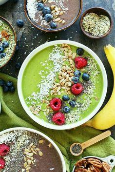 Matcha breakfast bowl.