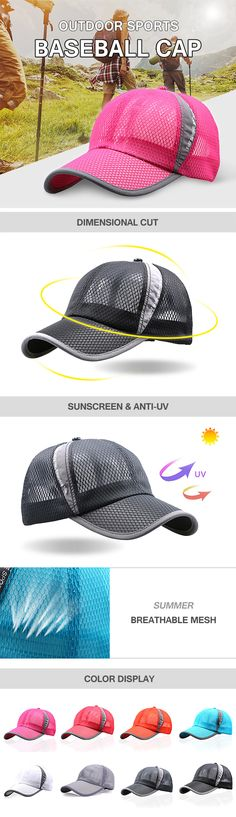 free shipped.Men Women Summer Breathable Mesh Cap Outdoor Sports Shade Baseball Cap