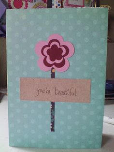 Colorful, Creative Cards: you're beautiful