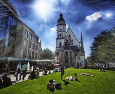 Leipzig, Germany.  I attended a concert of Bach music in this church where he is buried.