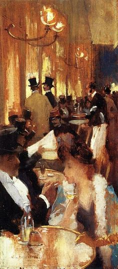 Café  Willard Metcalf 1888 I like this painting