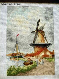 Вышивки крестом ветряная мельница