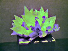 It's Fluorescent Friday! Calcite by fluorescent light