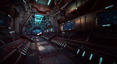 Sci fi Corridor by VincentLim