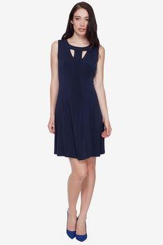 A-Line Dress with Cutout