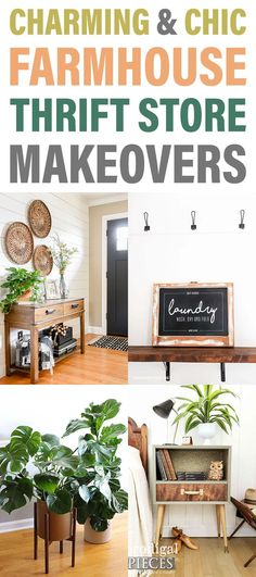 Charming and Chic Farmhouse Thrift Store Makeovers are going to totally inspire you to create!  They will make you want to grab your keys and head towards your favorite Thrift Store!  Come and check out the makeovers and the techniques used to make them!  ENJOY and CREATE! #ThriftStoreMakeover #ThriftStore #Makeovers #FarmhouseMakeovers #FurnitureMakeovers #FarmhouseFUrnitureMakeovers #ThriftStoreProjects