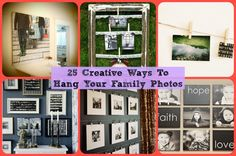 25 Cool Ideas To Display Family Photos On Your Walls | Do It Yourself Ideas