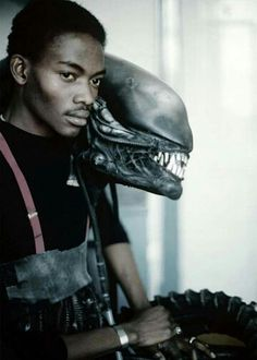 The Man behind the Monster  Pictured: Bolaji Badejo, the man who portrayed the iconic creature in ALIEN (1979), designed by H. R. Giger and created by Carlo Rambaldi.