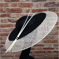 a9c8f9105a6 Classic ivory   black downbrim hat. Classic