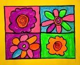 Artsonia Art Gallery :: Warhol Pop Art Flowers
