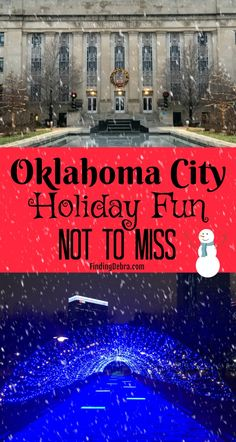 Oklahoma City is just a stone's throw away from Dallas and I've got all the scoop on holiday OKC events and things not to miss (some going on until Feb). Christmas Events, Christmas Travel, Holiday Travel, Christmas Markets, Holiday Pops, Holiday Fun, Travel With Kids, Family Travel, Okc Events