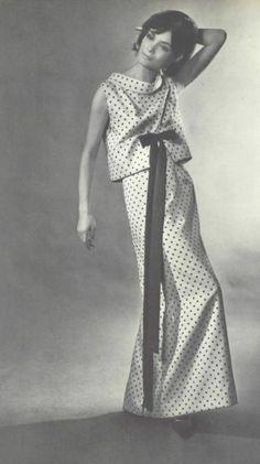 Vogue Paris Original 1404 by Pierre Balmain | ca. 1964 one-piece evening dress