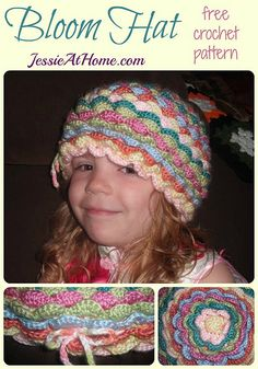 Bloom Hat ~ Free Crochet Pattern by Jessie At Home