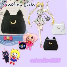 Sailor Moon Harajuku Cute Cat LUNA Ear Moon Magic Bar Backpack Handbag New #Wangxinchen #princesssweet