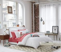 Making a bed is like dressing in the morning. Be neat, organized and styled, then add colorful accessories. See, easy peasy!