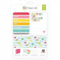 Project Life Kit Peace Love 180 cartes - Inspiration Création