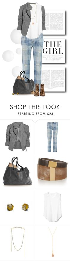 """""""WhiteT & Jeans"""" by dawn-scott ❤ liked on Polyvore featuring Ultimate, Kershaw, Lot78, Current/Elliott, Isabel Marant, Gap, Jules Smith, Gorjana, Zara and thepluslife"""