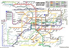 Taipei Metro Transport Map, Public Transport, Taipei Metro, Singapore Map, Underground Map, Train Map, Metro Rail, China Map, Subway Map