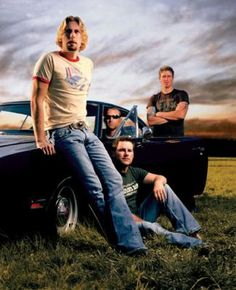 Nickelback; Canadian Rock Band. These guys play kick ass rock !!!