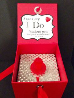 Will You Be My Bridesmaid RING POP Box Cant Say I Do Without You