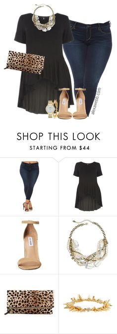 Plus Size Peplum - AlexaWebb.com by alexawebb on Polyvore featuring Slink Jeans, Steve Madden, Clare V., Sandra Magsamen, Kate Spade, Stella & Dot, outfit, plussize, plussizefashion and alexawebb
