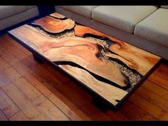 Wooden Table Design and Epoxy Magic! Woodworking Project - YouTube