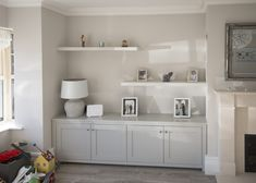 Enigma Design » Alcove units & floating shelves Living Room Built In Units, Alcove Storage Living Room, Alcove Shelving, Living Room Shelves, Living Room Flooring, New Living Room, Living Room Interior, Living Room Alcove Decorating Ideas, Alcove Tv Unit