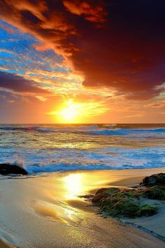 Scenery Pictures, Beach Pictures, Nature Pictures, Beautiful Pictures, Beautiful Sunrise, Beautiful Beaches, Home Beach, Seascape Paintings, Beautiful World